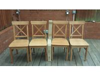 5 x Ikea Ingolf Dining Chairs, Antique Stain
