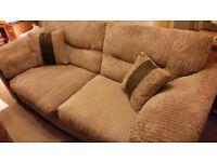 DFS plush 3 seater fabric sofa