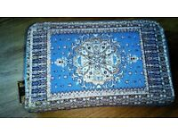 Traditional Turkish Tapestry zipped wallet/purse - Turkish woven wallet