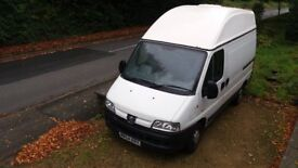 Peugeot Boxer / Relay / Ducato Campervan 2.0 hdi, with High Roof and Low Miles