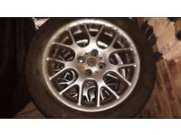 "16"" MG 25/45 Rover Alloy Wheels With Tyres Set Of Four"
