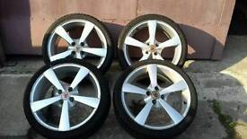 205 40 17 wolfrace alloy wheels with tyres, 4x100