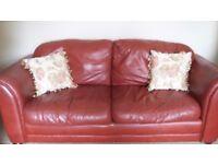 3 seater plus 2 seater leather sofas.
