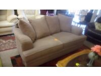 Grey / lilac brown 2 seater sofa, lovely condition £100. SK15 3DN.