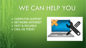 COMPUTER / NETWORK / ALL TECH SUPPORT @Home & Remote 24/7