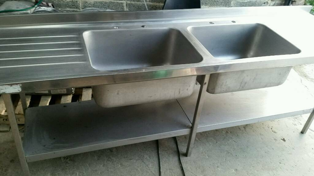Double Commercial Sink/stainless Steel Sink (2.4m)