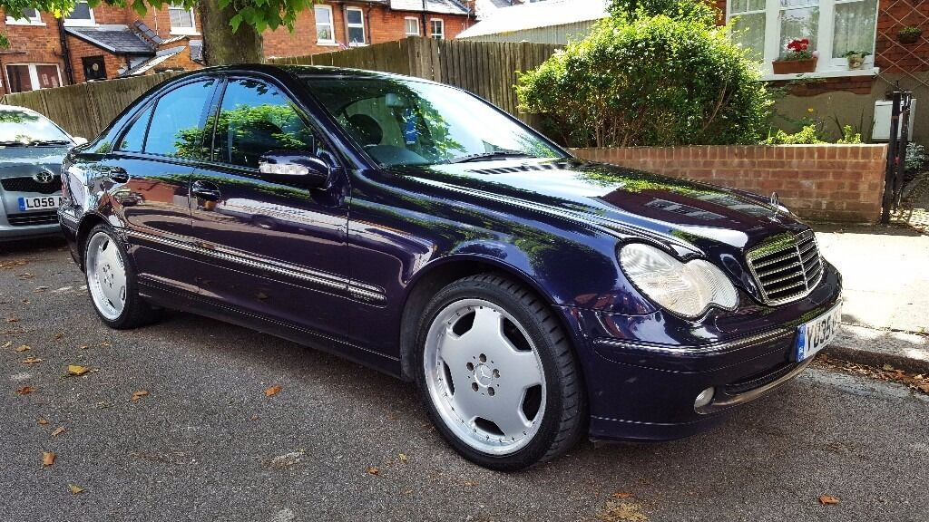 2001 Mercedes C180 Avantgarde Very Low 63,000 Miles! AMG Wheels U0026 Black  Leather!