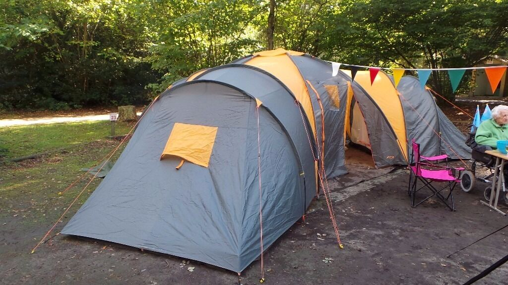 Tesco 9-Man 3-Bedroom Family Tent grey and orange : tescos tents - memphite.com