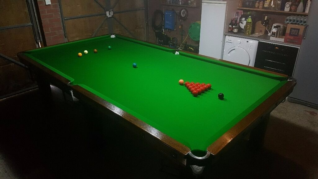 Beau 10ft X 5ft Snooker Table   Excellent Condition 10 X 5