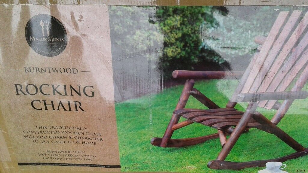 2 New Wagon Wheel Garden Benches And Rocking Chair