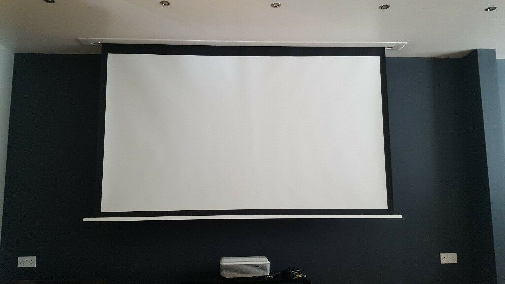 106 Inch In Ceiling Projector Screen SESC240BWSF