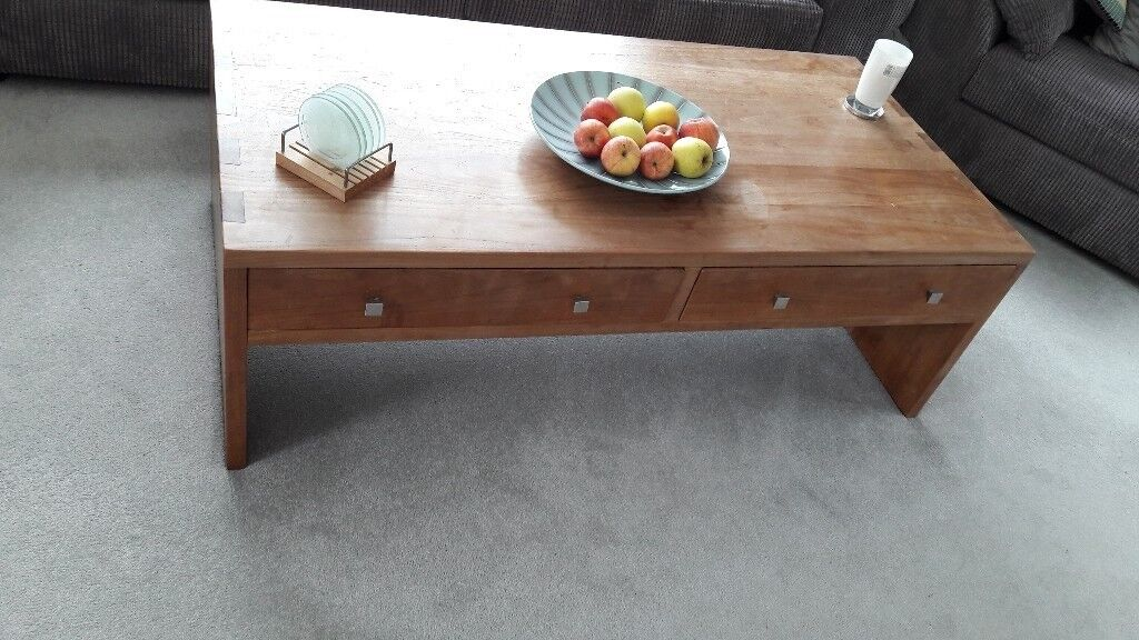 Exceptional REDUCED Heavy Solid Wood Coffee Table And Side Table MUST GO, MAKE AN OFFER