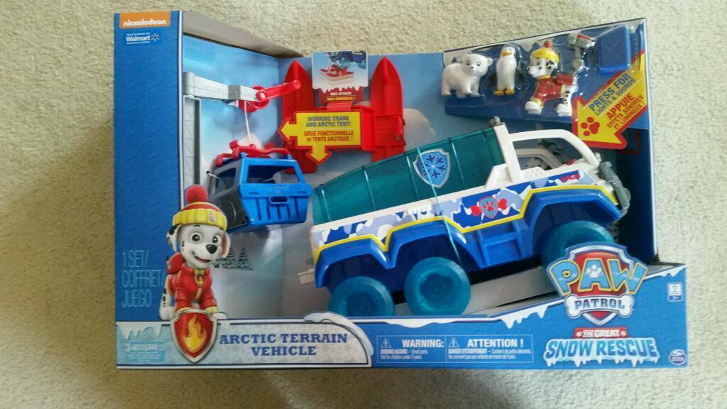 PAW PATROL Snow Rescue Arctic Terrain Vehicle Set. Brand New In Box.
