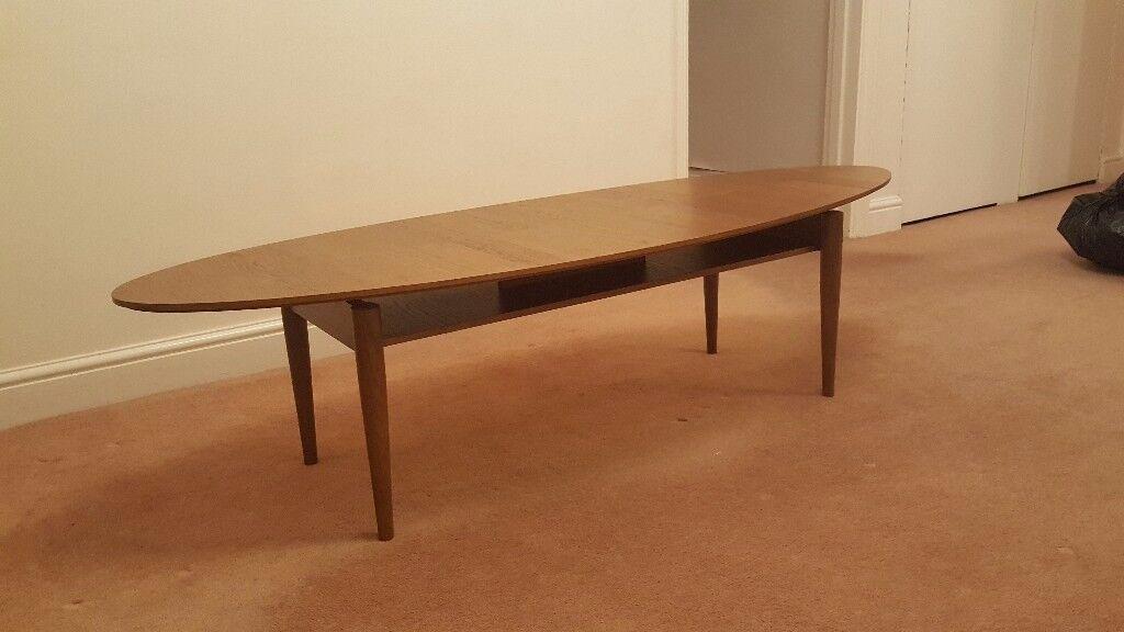 Amazing REDUCED PRICE IKEA Stockholm Oval Coffee Table Walnut Veneer   Retro Style    Very Good Condition