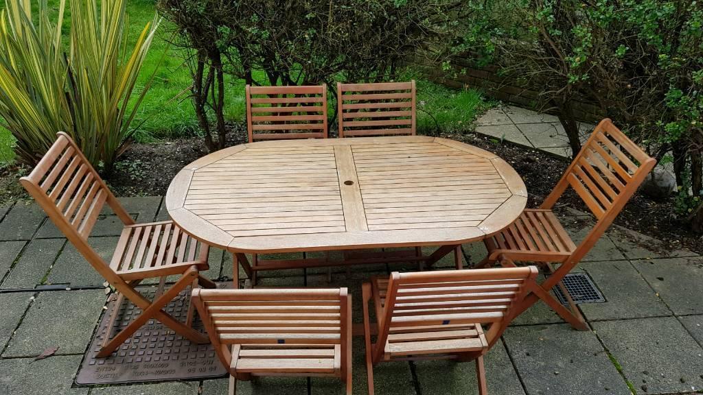 HOME Newbury 6 Seater Patio Set