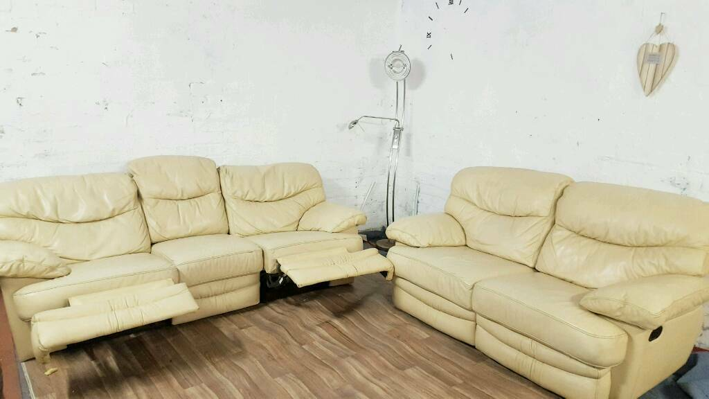 Real leather recliners 3+2 seater**Free delivery** & Real leather recliners 3+2 seater**Free delivery** | in Sheffield ... islam-shia.org
