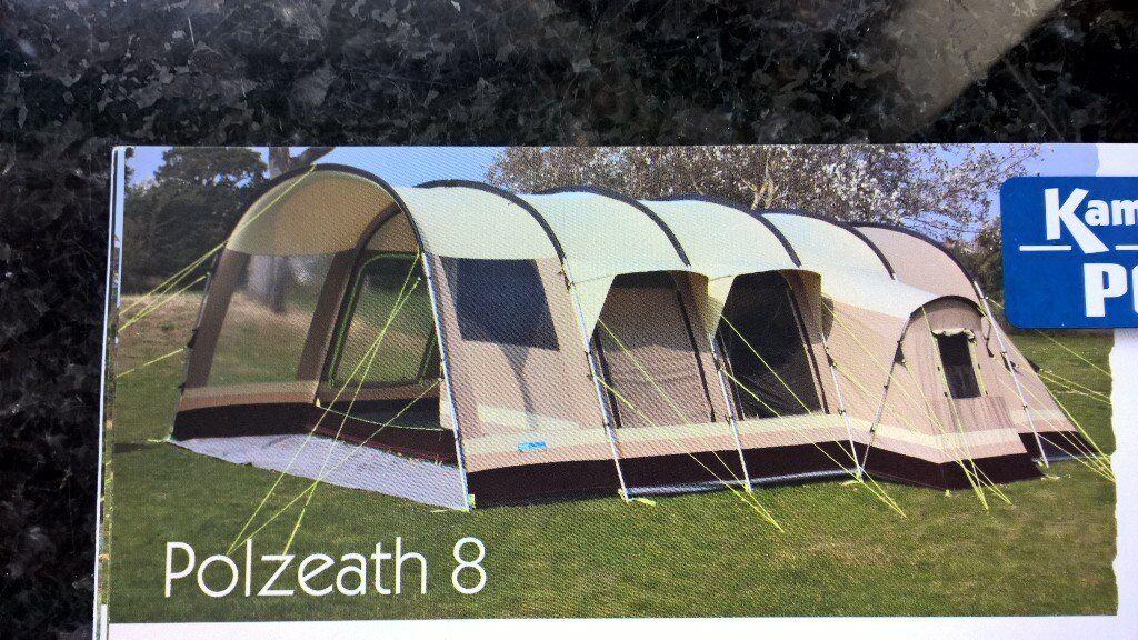 K&a Polzeath 8 Weathershield Polycotton Luxury 8 Berth Family Tent Carpets Footprint Groundsheet & Kampa Polzeath 8 Weathershield Polycotton Luxury 8 Berth Family ...
