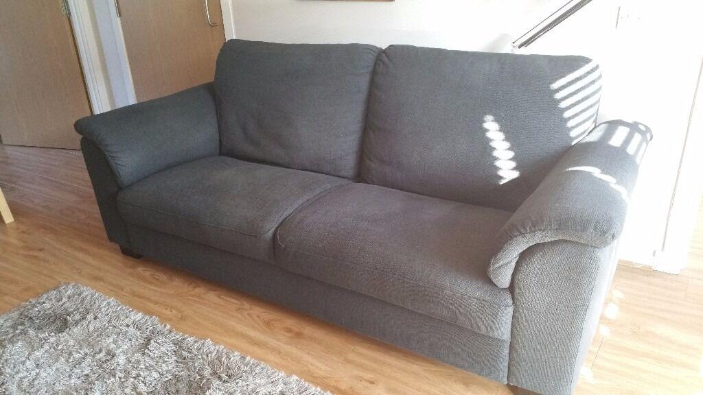 Ikea Tidafors 3 Seat Sofa In Hensta Grey.
