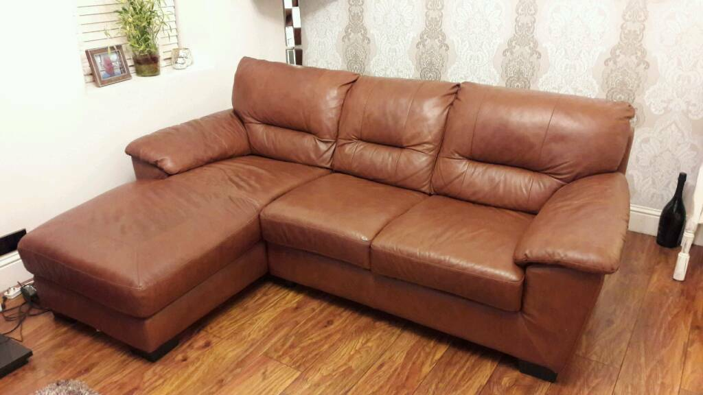 Beautiful Leather L Shaped Sofa In Bonnybridge Falkirk Gumtree