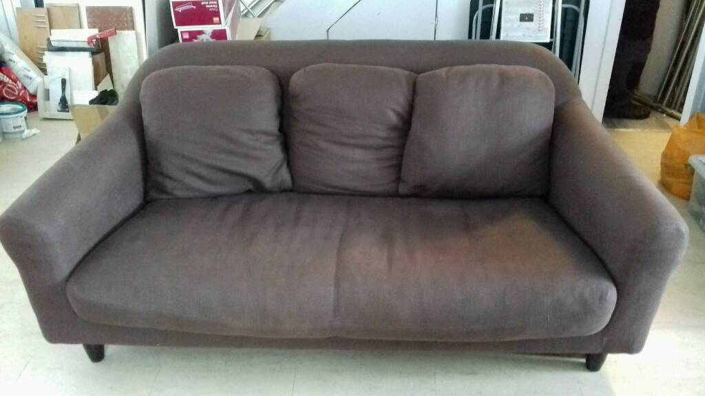 Habitat Emlyn 3 Seater Sofa Brown Linen Like Fabric Good Condition £200 Ono Awesome Ideas