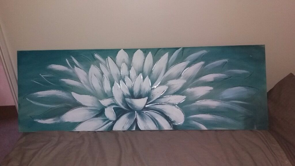 Duck Egg Flower Canvas Painting Bedroom Living Room Part 84
