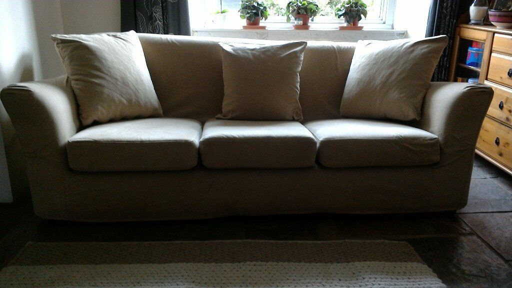 Ikea 3 Seater Sofa With Removable And Machine Washable Covers