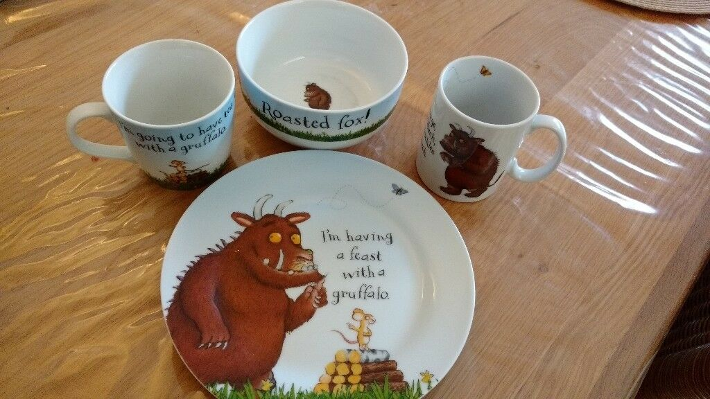 4 item ceramic Gruffalo dinnerware set & 4 item ceramic Gruffalo dinnerware set | in Tunbridge Wells Kent ...