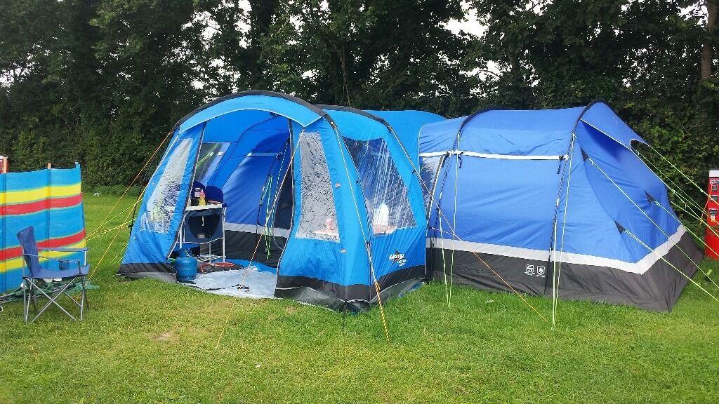 hi gear kalahari 10 berth tent and vango large side canopy & hi gear kalahari 10 berth tent and vango large side canopy | in ...