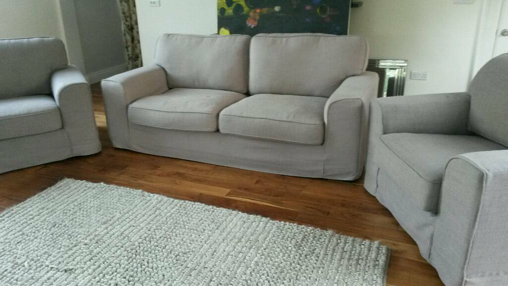 Creations Large Sofa And 2 Armchairs. Colour   Heather (Grey ...