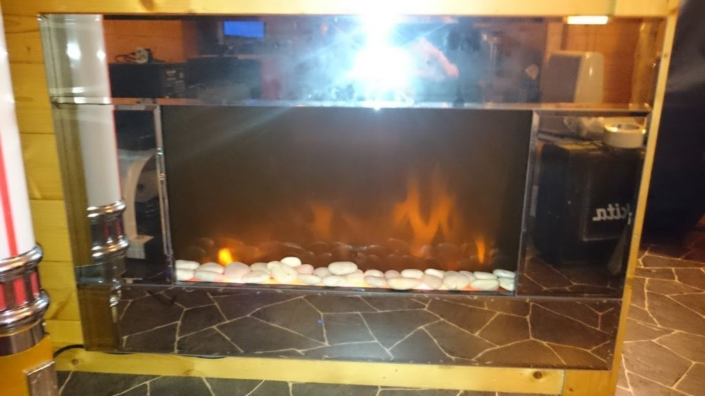 Flame Effect Electric Fires Part - 41: Picture Frame Electric Fire, Flame Effect, Mirror Surround With Remote  Control.