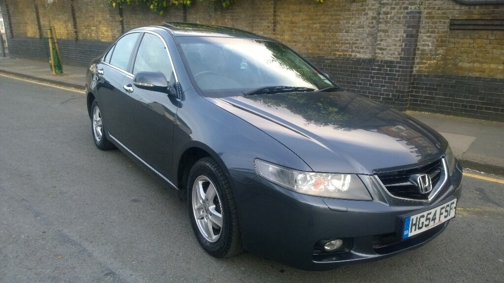2004 HONDA ACCORD EXECUTIVE IVTEC 2.0 GREY SALOON PETROL MANUAL WITH BLACK  LEATHER INTERIOR