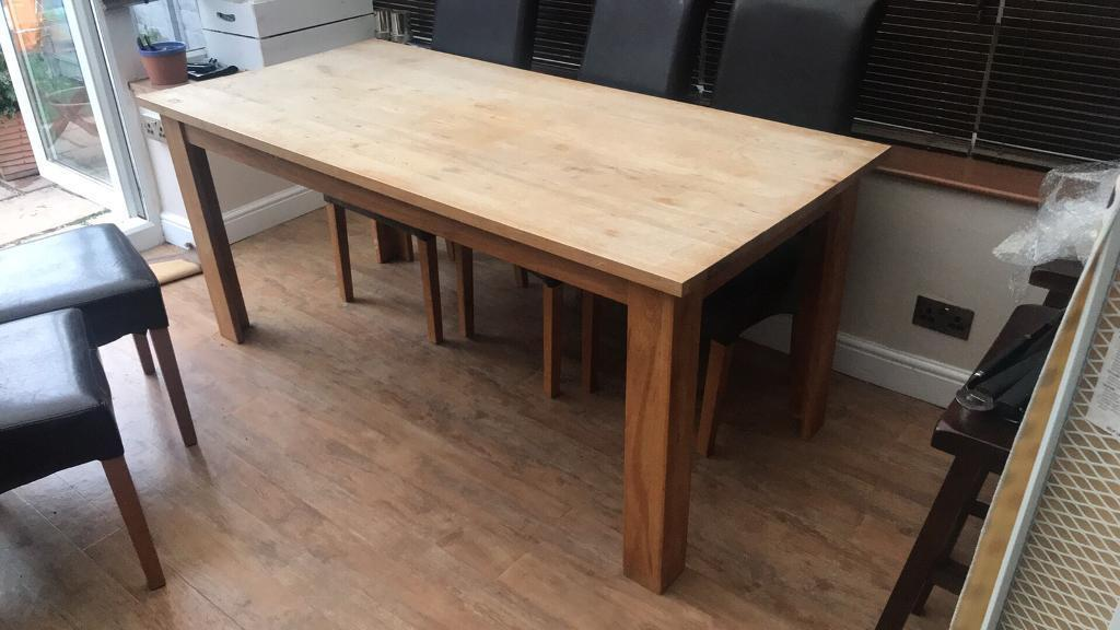 Solid Wood Dining Table U0026 Chairs