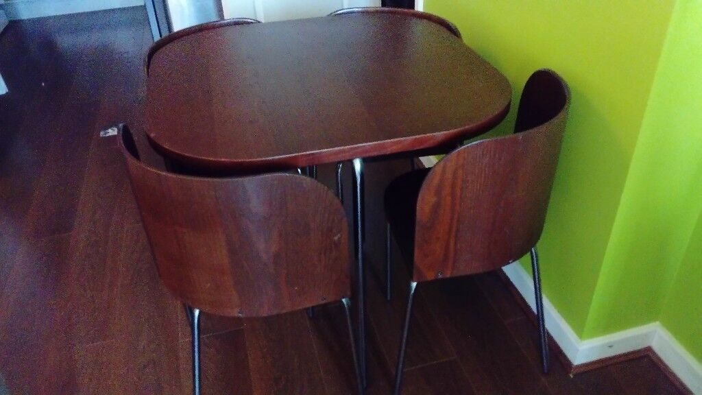 IKEA Compact Table And 4 Chairs
