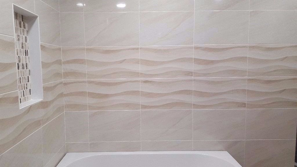 Beautiful Stunning Bathroom Wall Tiles With Wavy Decor £12.99 PSM