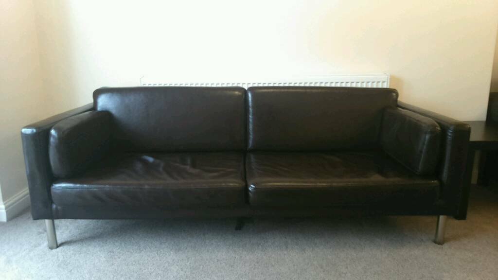 Ikea Faux Leather Sofa