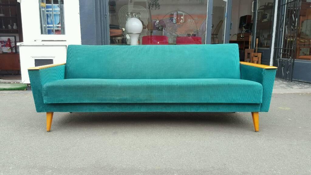 1960s Danish Sofa Bed Mid   Century Sofa
