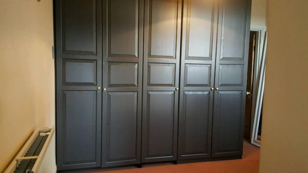Ikea Pax 5-door wardrobe with Hemnes doors & Ikea Pax 5-door wardrobe with Hemnes doors | in Lancaster ...