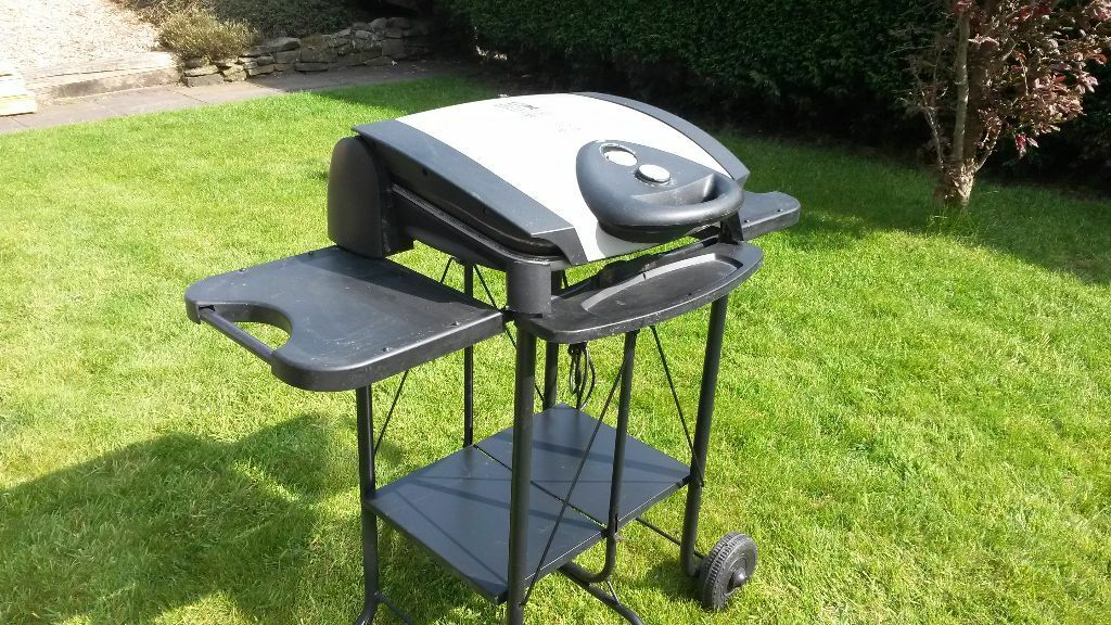 George Foreman Electric BBQ Grill Indoor Or Outdoor With Stand