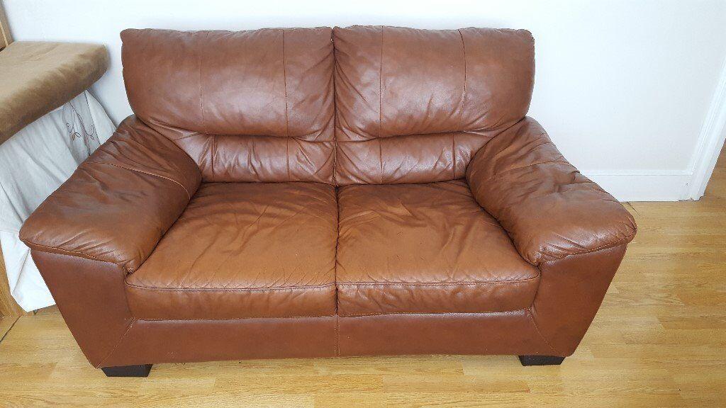 DFS Dalmore 2 Seater Leather Sofa  URGENT