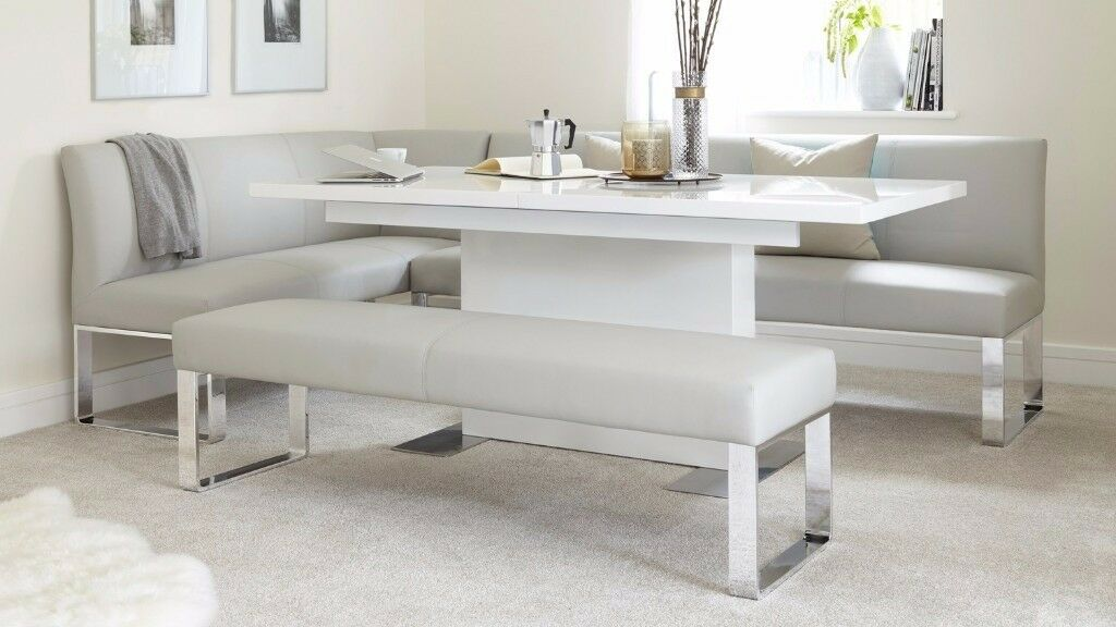 Gentil Brand New Danetti Sanza High White Gloss Extending Dining Table OVER HALF  RETAIL PRICE