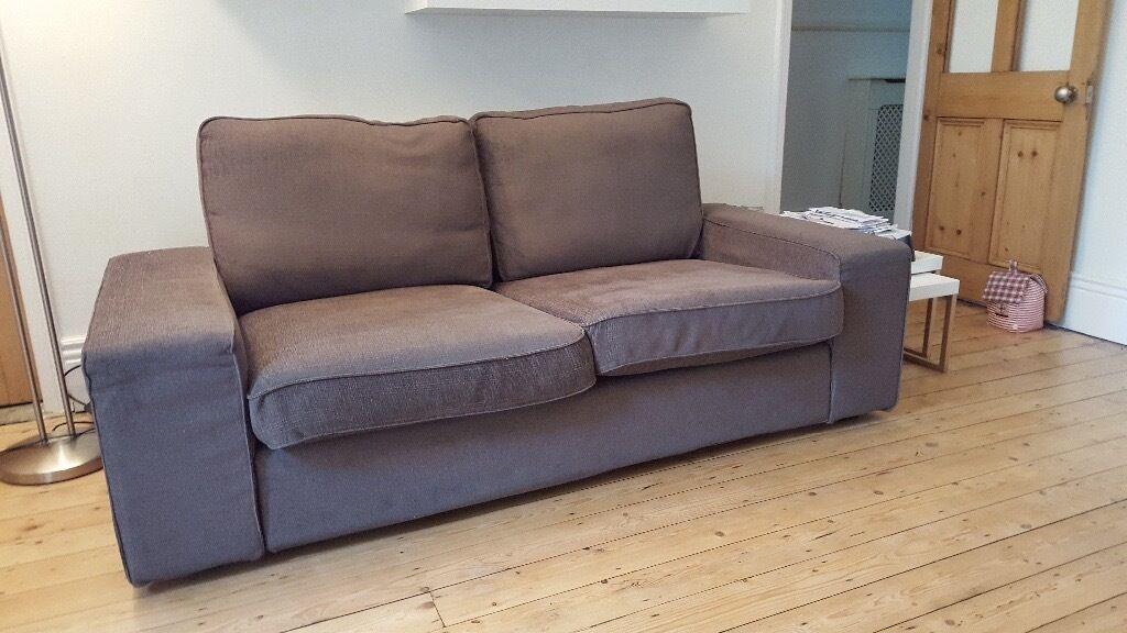 2 Seater Sofa   Ikea Kivik   Grey/brown   Used Good Condition