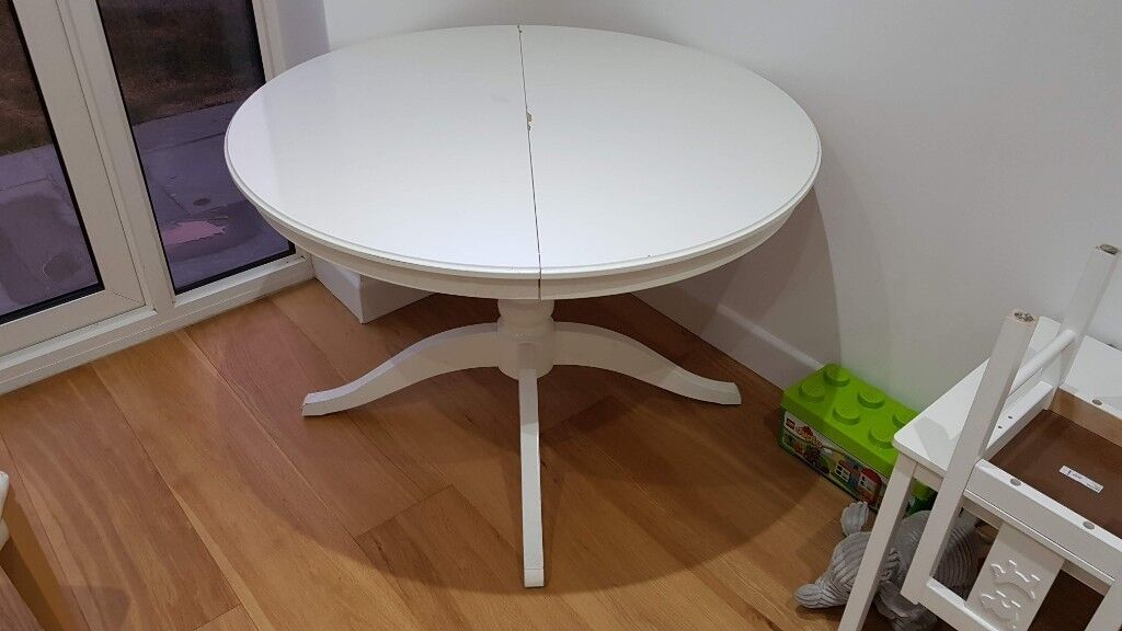 Dining Table And Chairs IKEA Round Extendable Table (INGATORP) And 4 Chairs  (HENRIKSDAL)