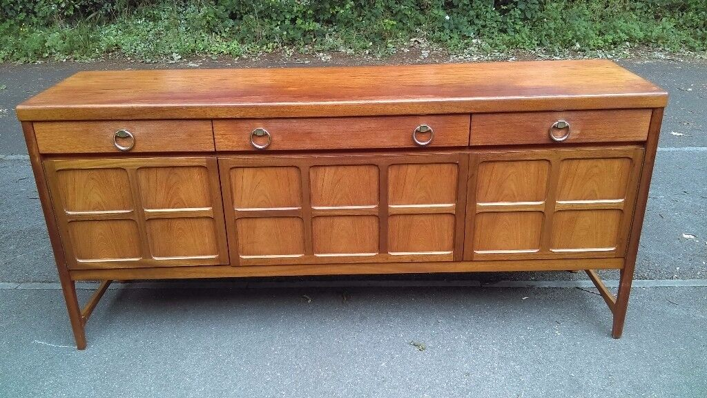 Sideboard Retro Teak Long Sideboard Server Dresser Nathan Furniture 1960 /70u0027s