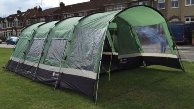 Corado 6 Hi Gear Tent Large Family tunnel tent with footprint and matching tent carpet & Corado 6 Hi Gear Tent Large Family tunnel tent with footprint and ...