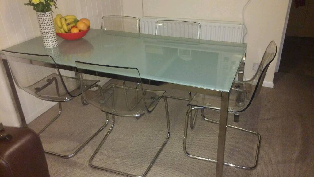 Exceptionnel Ikea Glass Table Tobias Chairs