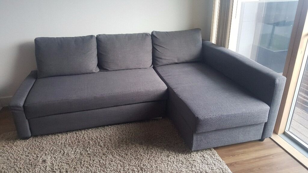Ikea FRIHETEN   Corner Sofa Bed With Storage | Color: Skiftebo Dark Grey |