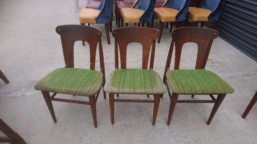 3 X Danish Style Chairs. Retro Design