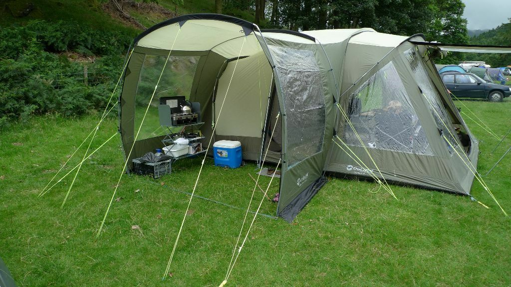 Outwell Oakland XL tent plus side extension footprint and carpet - excellent condition & Outwell Oakland XL tent plus side extension footprint and carpet ...