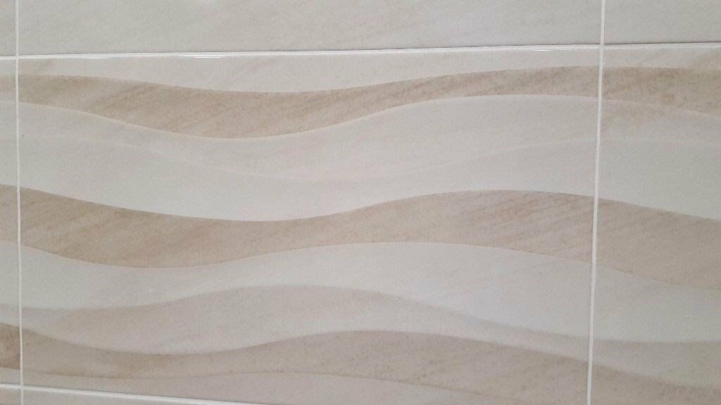 Stunning Bathroom Wall Tiles With Wavy Decor £13.99 PSM