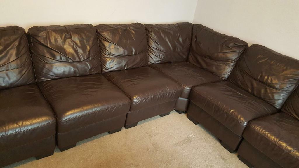 Real Leather Sofa Set.